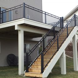 custom deck with stairs