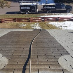 Cleaning roofs in February 2017 40 degrees